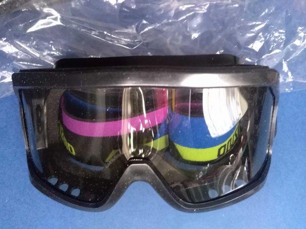 Gogle Mizuno 4 czarne gogle narciarskie