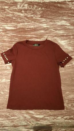 T-shirt Bershka bordeaux