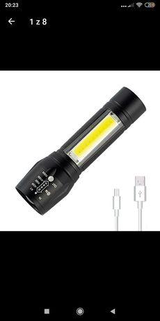 Latarka LED ładowana przez USB polecam