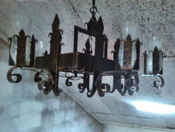 Candeeiro ferro antigo