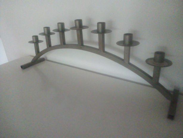 Świecznik siedmioramienny duży metalowy design