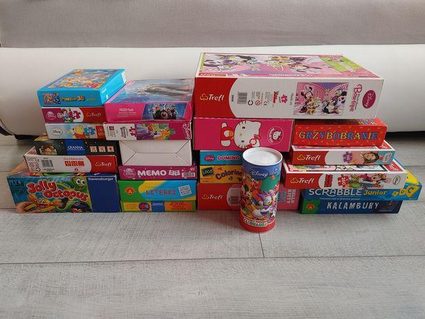 Zestaw zabawek dla przedszkolaka puzzle gry planszowe