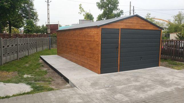 Promocja !Garaż drewnopodobny  4x6 .  3x6 4x5 4x6 5x5 profil!!!