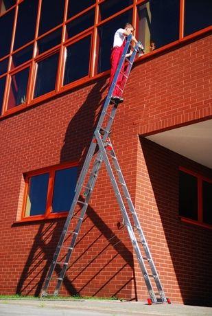 Лестница алюминиевая Драбина 3-х универсальная раскладная 7.8.9.10сх