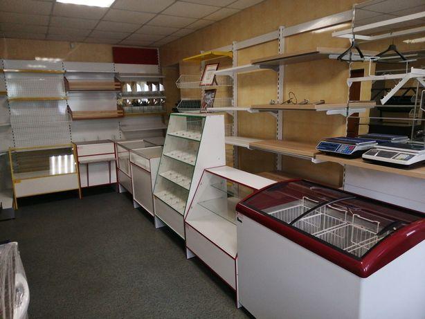 Торговое оборудование для любых магазинов, стеллажи, прилавки, витрины