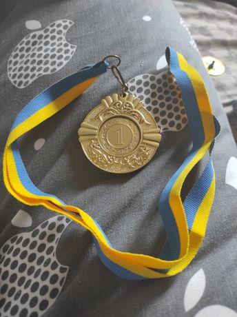 Медаль за 1 место для гравировки