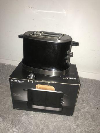 Czarny toster Silvercrest opiekacz używany