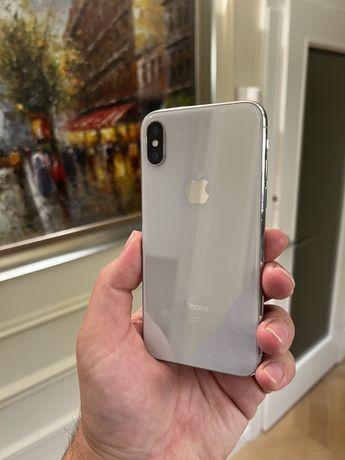 Iphone X 64 GB Silver/Biały