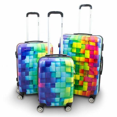 17008 KOMPLET ZESTAW WALIZEK 3 SZT berwin cube walizki M L XL