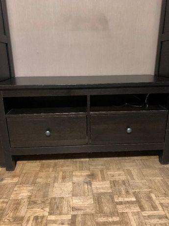 Szafka pod telewizor RTV wraz z półką, Ikea, Hemnes, ciemnybrąz