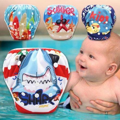 Для купания и плавания многоразовые трусики подгузники новорожденны