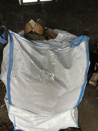 Drewno opałowe suche w big bagu