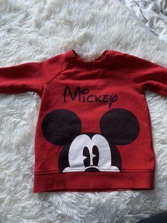 Bluza mickey miki 92 hm czerwona piękna