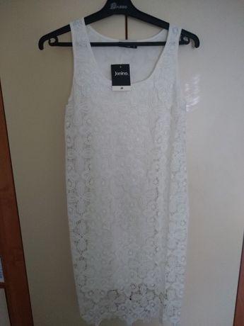 Sukienka koronkowa biała r 36, nowa