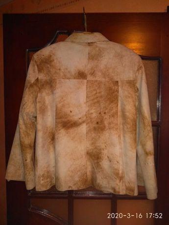 Куртка весенняя замша 50-52 размер