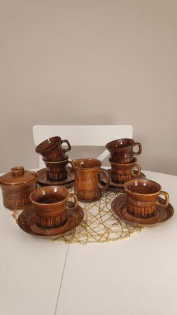 Zestaw  mała kratka do kawy , herbaty porcelit Tułowice