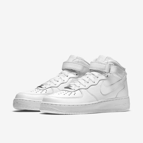 Кроссовки белые Найк Аир Форс Nike Air force черные , низкие , высоки