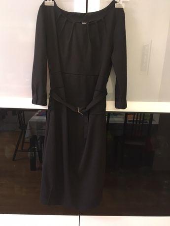 Czarna sukienka ciążowa