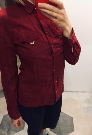 Сорочка бордо, рубашка блуза