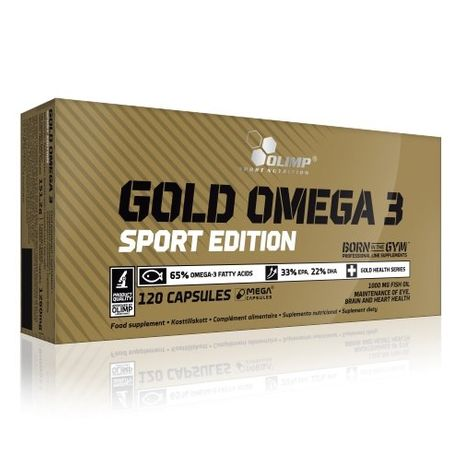 Olimp Gold Omega 3 sport edition 120 капсул Олимп омега голд