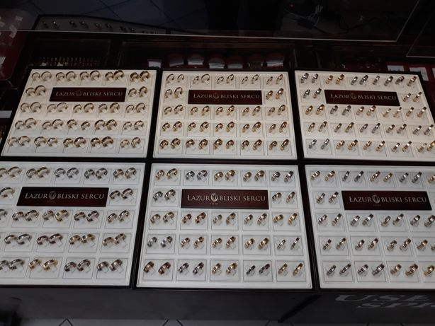 Obrączki złote ślubne ponad 1000 wzorów w ofercie w różnych próbach