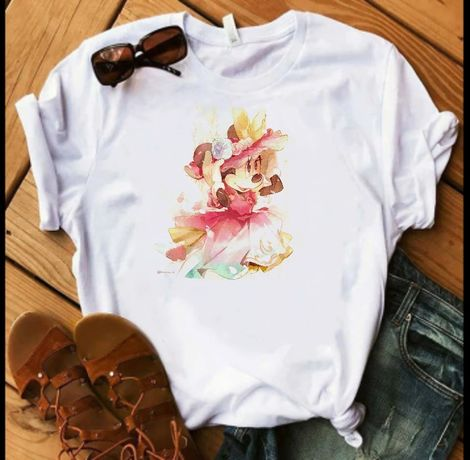 Koszulka t-shirt bluzka Disney postacie Minnie Miki mouse myszka S-XXL