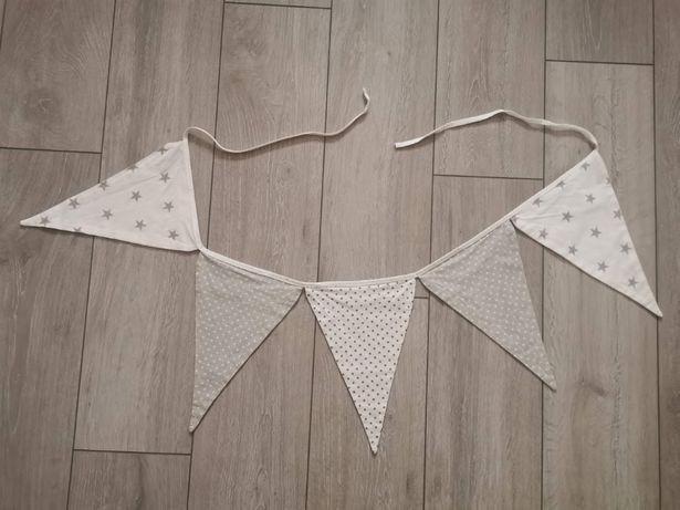 Girlanda trójkąty bawełniana skandynawski styl pokój dziecięcy