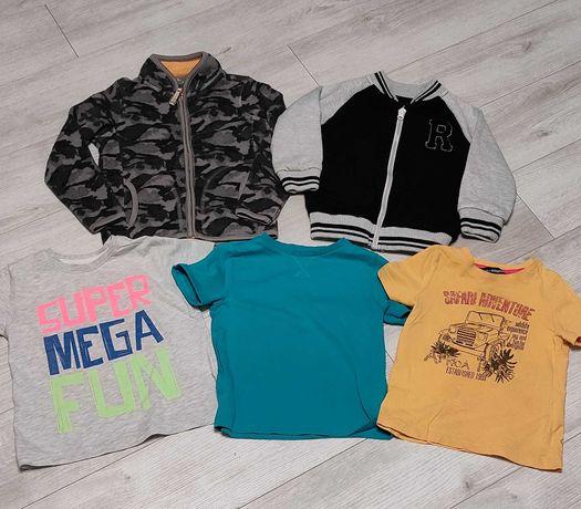 Zestaw ubrań 104 bluza polar bluzki