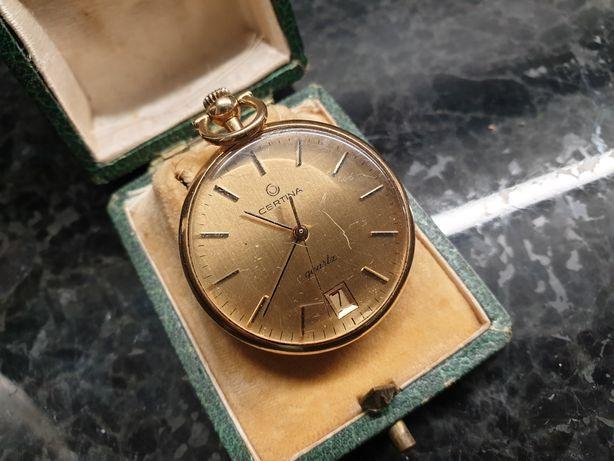 Relogio Bolso Certina Banhado a Ouro Vintage