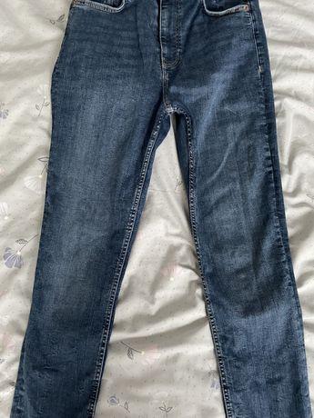 Jak nowe spodnie damskie jeans zara rozmiar m/38 wysoki stan