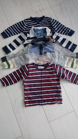 Bluzeczki, bluzki 5szt, rozmiar 74 dla chłopca