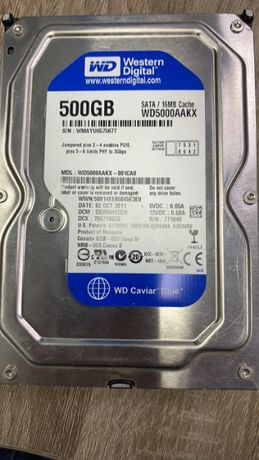 Жесткий диск WD Blue WD5000AAKX 500Gb 3.5 винчестер HDD