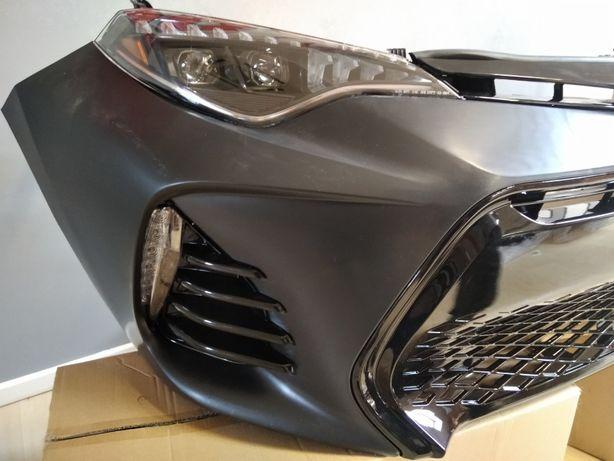 Toyota Corolla 2017 2018 2019 бампер решетка фары фонари
