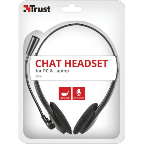 Trust ZIVA CHAT HEADSET Auscultadores Fita de cabeça Preto