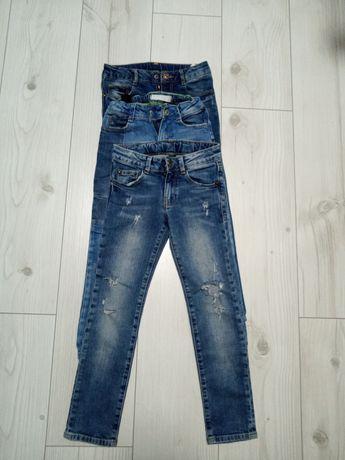 Spodnie jeansowe Zara 110. 3 pary