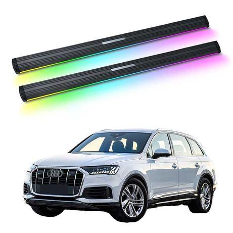 Audi q5 q7 q8 боковые автоматические подножки с неоновой подсветкой
