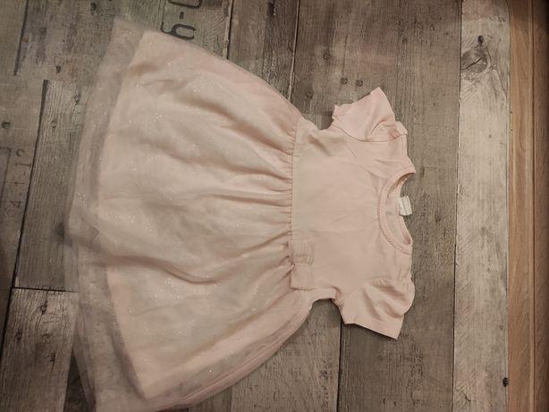 Sukienka h&m różowa