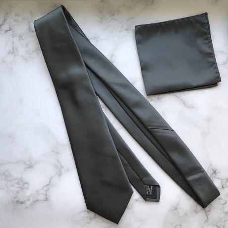 Галстук атласный ручной работы perry meyson нагрудный галстук серый