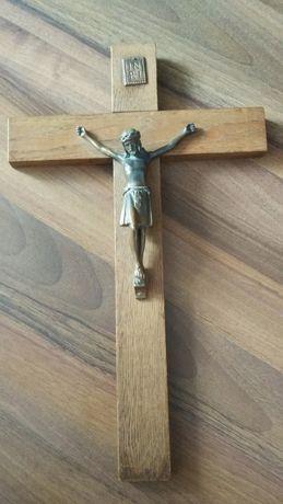 KRUCYFIKS drewniany krzyż z Jezusem