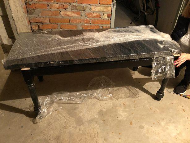 Ława-stół - Ława z funkcją pełnowymiarowego stołu