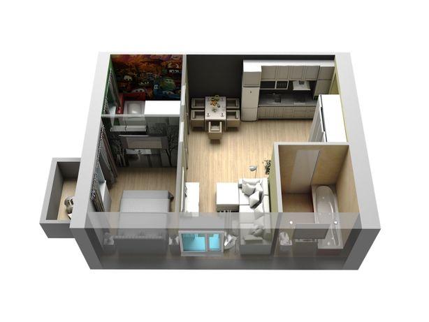 Продается однокомнатная квартира в новострое. S=33,5кв.м