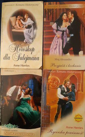 Harlequin historyczny romans cztery sztuki