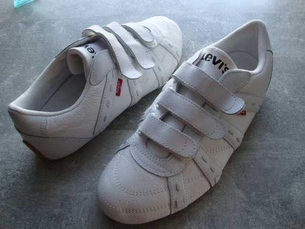 Sneakersy  LEVIS  białe męskie rozmiar 43,5 wkładka 28 cm.