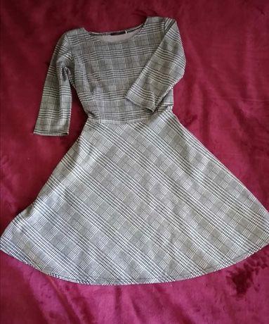 Платья меланжевое в клеточку