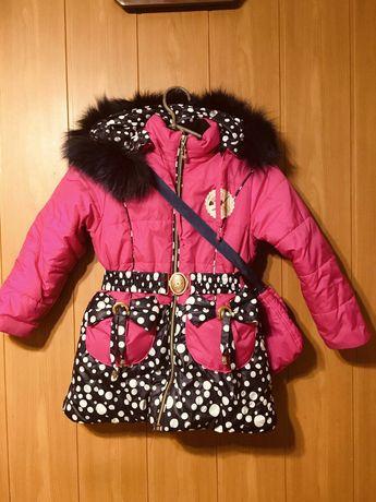Зимова курточка з сумочкою