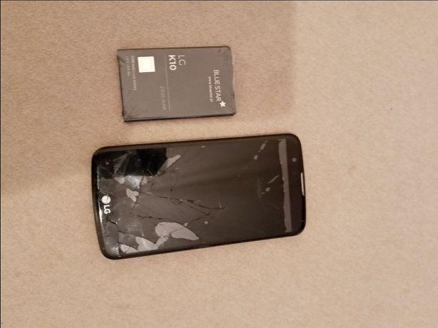 Telefon LGK10-uszkodzony + nowa bateria