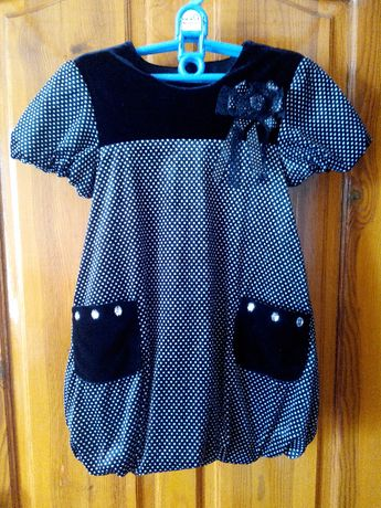 Платье на подкладке для девочки 5-7 лет, на рост 128 см