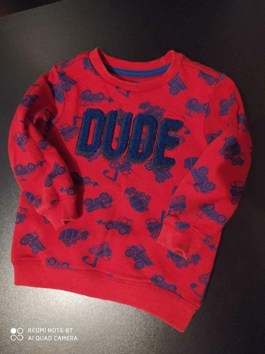 Czerwona bluza NUTMEG 1-2lat  (100% bawełny) Koło - image 1
