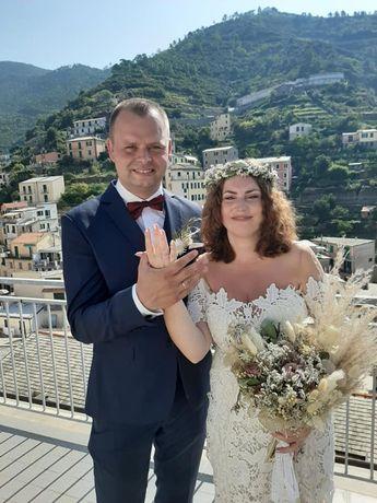 Bukiet ślubny i wianek w stylu BOHO