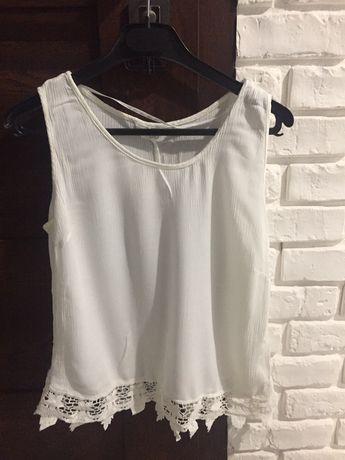 Bluzka koszula Xs s 33 36 koronka